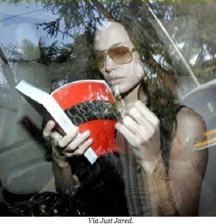 Angelina Jolie reads.
