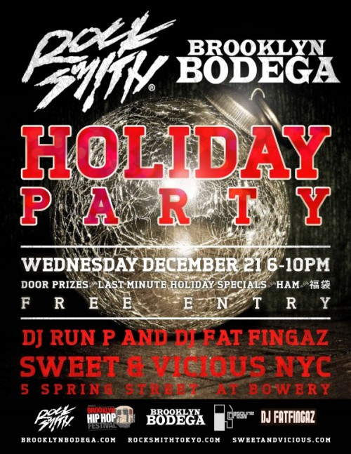[Event] Brooklyn Bodega x Rocksmith Holiday Party 12/21/11 (NYC)