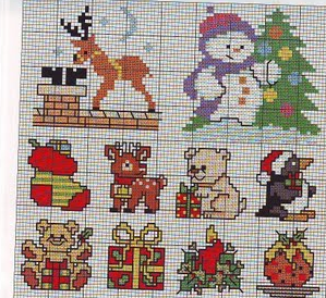 more Christmas cross stitch charts