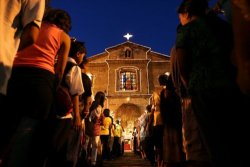 Simbang Gabi (Mass at Dawn) A devotional nine-day series of Masses practiced by  Roman Catholics and Aglipayans in the Philippines in anticipation of  Christmas. (Wikipedia)
