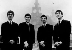 1962, September, Liverpool, in front of the Liver Building.