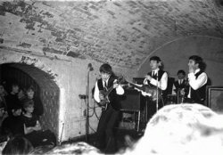 1962, At the Cavern, 10 Mathew Street, Liverpool.