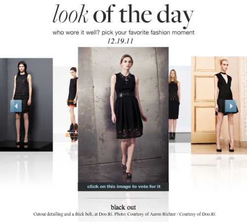 Style.com's look of the day features look #7 from Pre Fall 2012! Vote for us!