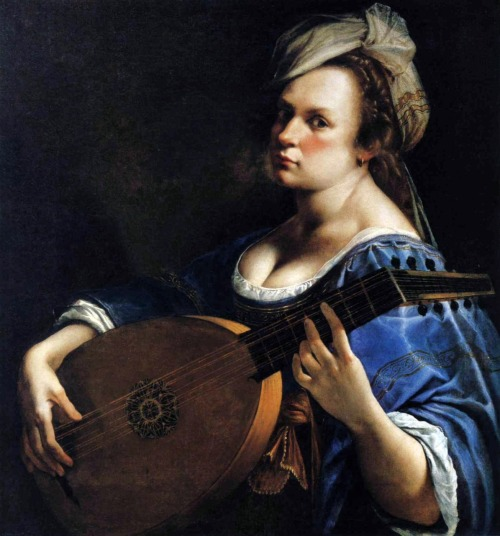 masterpiecedaily:  Artemisia Gentileschi Self-Portrait as a Lute Player 1615-17