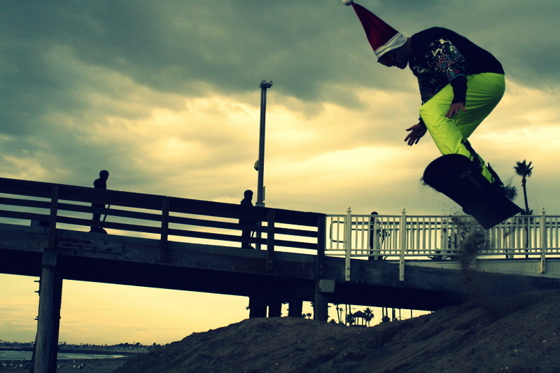 Beach snowboarding for Christmas…happy holidays everyone. #santa #snowboard #beach