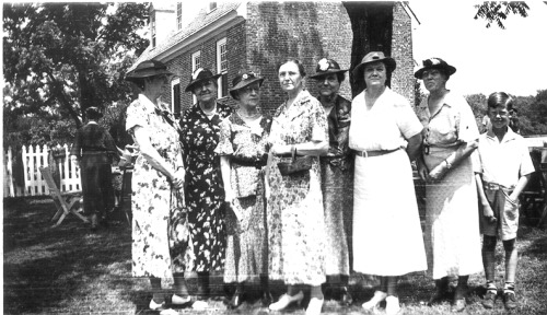 From the archives, the ladies of the Thomas Rolfe Branch of Preservation Virginia at an event