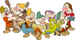 On the 7th day of Christmas my true love gave to me 7 dwarfs a dancing 6 mice a sewing 5 emerald rings 4 story books 3 fairy wishes 2 glass slippers and a magical shell of the sea!