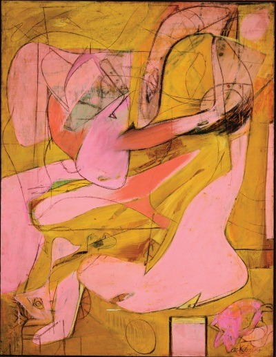 "manpodcast:  Willem de Kooning, Pink Angels, 1945. Collection of the Frederick R. Weisman Art Foundation, Los Angeles.  This week's Modern Art Notes Podcast features biographer and critic Mark Stevens, a top expert on the life and art of Willem de Kooning. Along with co-author Annalyn Swan, Stevens wrote ""de Kooning: An American Master,"" which won the 2005 Pulitzer Prize for biography. Stevens has also worked as the art critic for New York magazine. De Kooning is currently the subject of a major Museum of Modern Art retrospective. The exhibition, on view through Jan. 9, 2012, was curated by John Elderfield. I reviewed the exhibition on MAN here and here.  To download or subscribe to The Modern Art Notes Podcast via iTunes, click here. To download the program directly, click here. To subscribe to The MAN Podcast's RSS feed, click here. To see images of the artworks discussed during this week's show, click here."