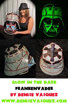 "Thank you Force.net for the writeup about my ""FrankenVader"" Helmet  http://www.theforce.net/latestnews/story/New_Vader_Helmet_From_Denise_Vasquez_142535.asp"