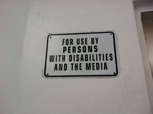 Should the disabled be insulted by this?  Photo by D'Arcy Maine.