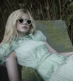 deerdoedeer:  elle fanning shot by bill owens for a magazine curated by rodarte  Oh, the perfection