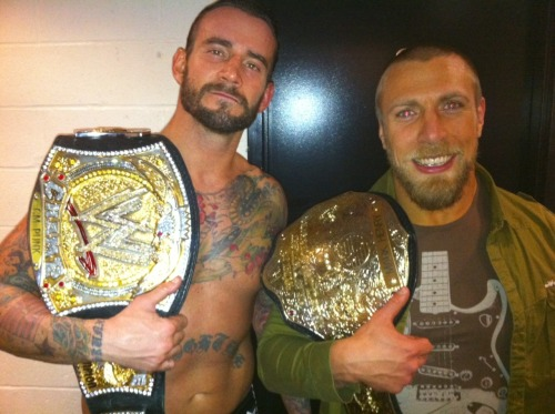 """It's strange…Six years ago CM Punk and I wrestled a 45 minute match in Florida in  front of probably 36 people. It's fun watching us pretend to be  superstars when we're really just a couple of Indy schmucks."" - ""American Dragon"" Bryan Danielson  This makes me feel so happy inside. :,)"