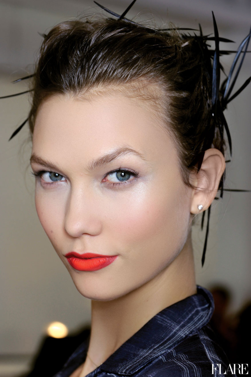 Karlie Kloss - Spring 2012 / Photographer: Anthea Simms FLARE's Spring 2012 Trends Guide: Fashion trends, style tips and the best of beauty. Over 150 picks inside!