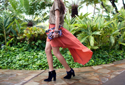 H&M Sequin top, All the Lovers skirt, Thakoon ankle boots, Zara clutch - Aimee from Song of Style