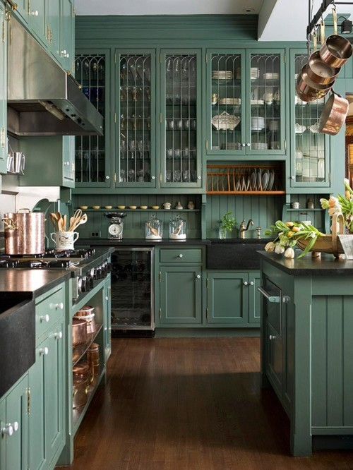Love this color for a kitchen
