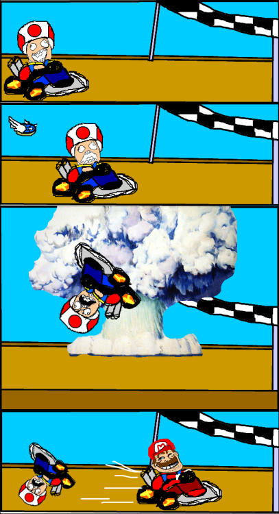 Everytime I play Mario Kart… | Via BORED? Then you have to check out this FUNNY and ADDICTIVE blog!
