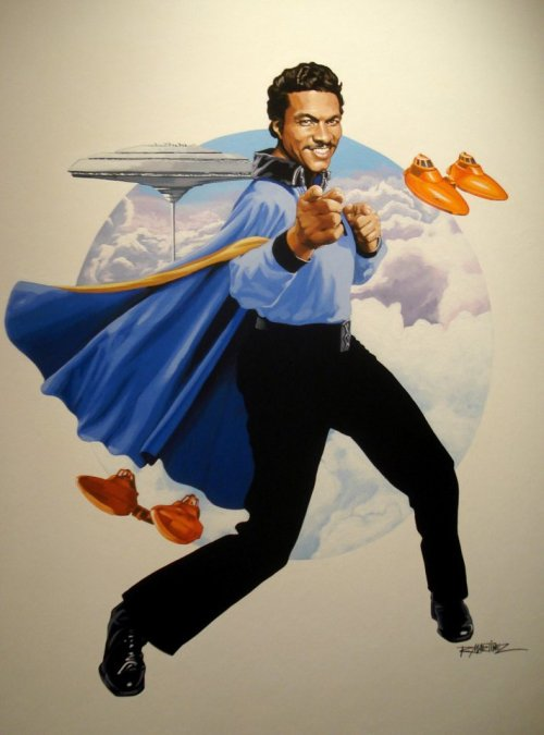 funrunrecords:  spandexual:  sdaoudi:  WOW  Lando's cape is my favourite Star Wars character  best.
