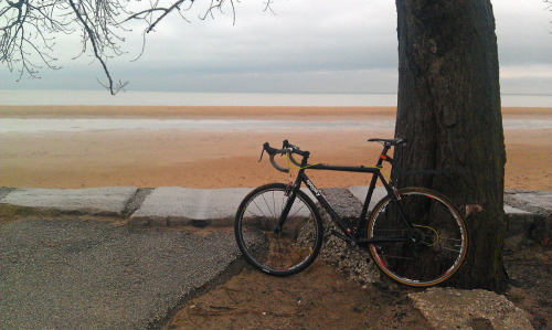 Montrose beach…riding the remnants of the IL state championship CX course that I didn't get to race.