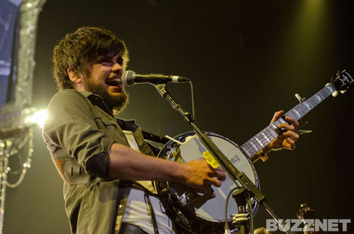 Winston Marshall of Mumford & Sons performs at KROQ's Almost Acoustic Christmas on December 11, 2011. Photo copyright Kayla Merrill Photo.