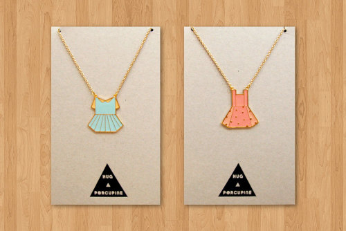 These are just about as adorable as necklaces get. Not to mention that they're from a shop called Hug a Porcupine. That just totally tips the cuteness meter for me. (via Pikaland)