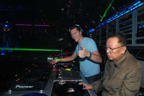 dropped kim with tiësto