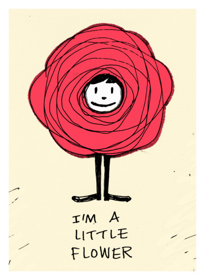 dailytrifle:  I'm a little flower!