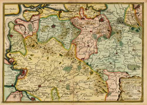 Nicolas De Fer, 1705, Regions of The Netherlands