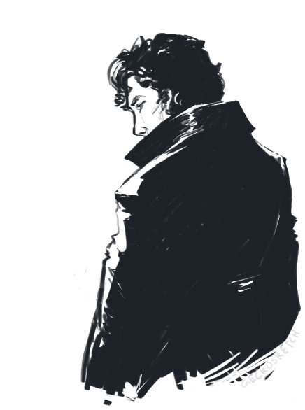 geckosketch:   Quick Sherlock sketch done from memory.