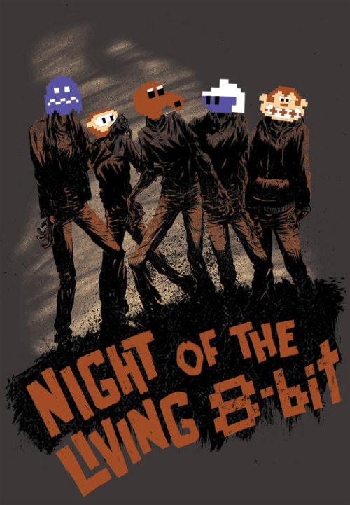Night Of The Living 8-Bit tee will available for 24 hours only $10 over at www.teefury.com Sale starts 12 midnight December 20th.