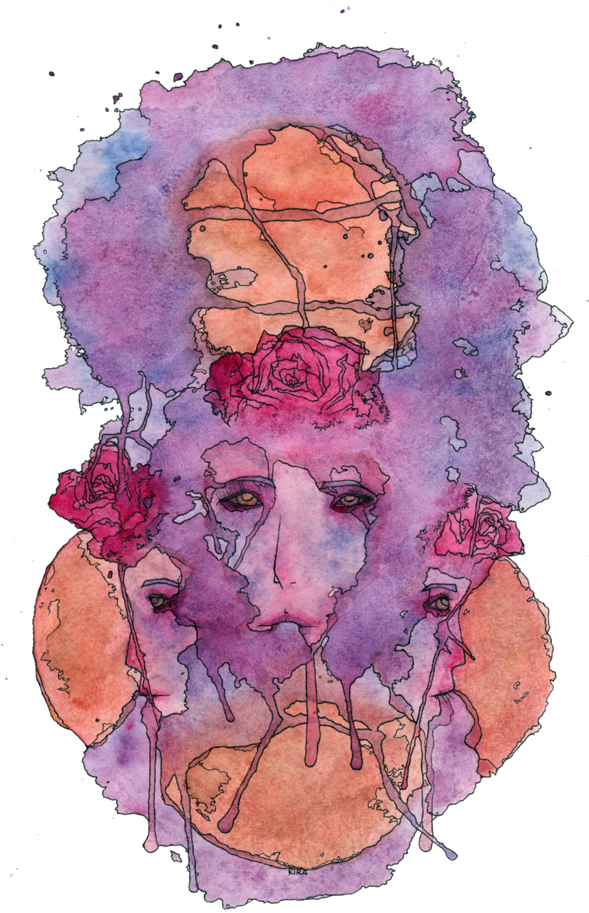 She Dreams With Her Eyes OpenDecember 19, 2011watercolor, inkshe loved to dreamto imagine her own worldwhere nothing went wrongthen she opened her eyes to something even lovelier