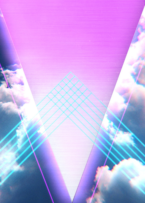 Sooooo 80's clouds with a triangle and lasers and stuff.  By Mandy Stoller