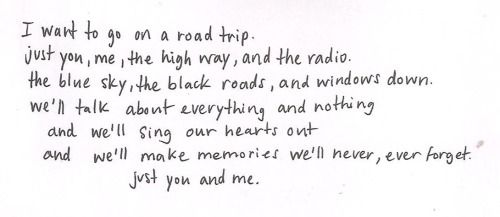 au-rev0ir:  just you, me, the highway, and the radio