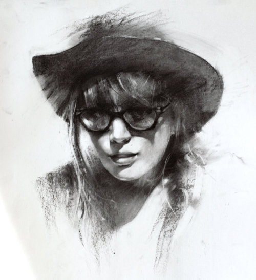 Charcoal sketch by *alifann