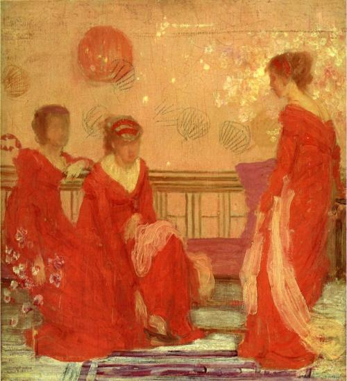 cavetocanvas:  James Abbott McNeill Whistler, Harmony In Flesh Color and Red, 1869