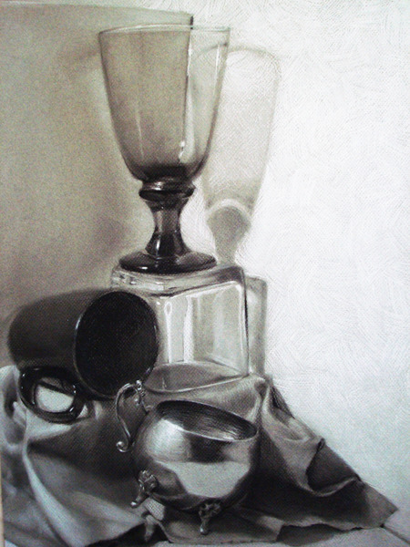 Charcoal Still life by ~MaGLIL