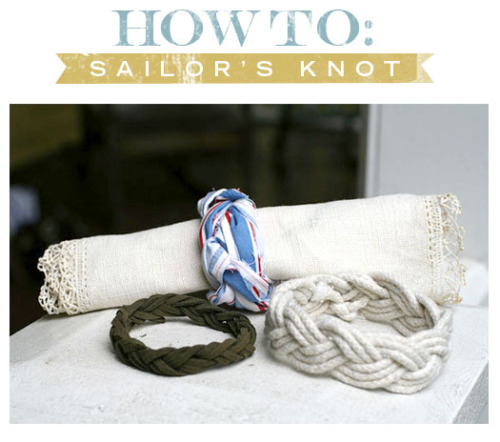 (via More Design Please - MoreDesignPlease - DIY : Sailor's Knot Bracelet )