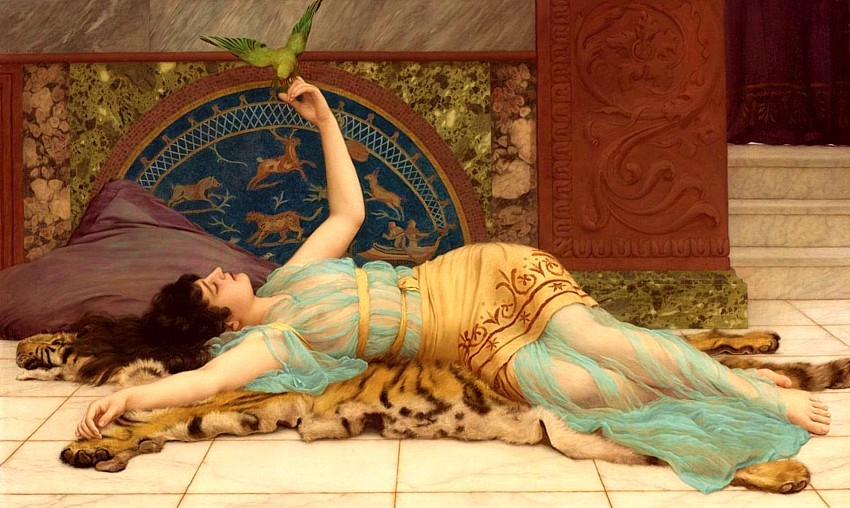 "beautifuldavinci:  John William Godward (British, 1861-1922), ""Dolce Far Niente"""