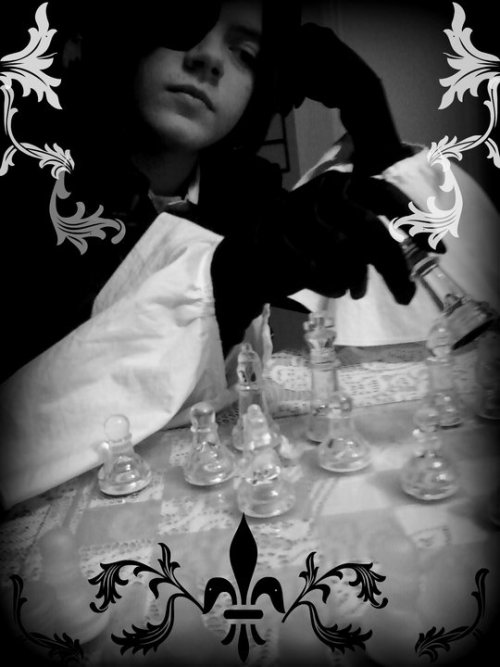 This is me in my Ciel cosplay~! All editting credit goes my Sebastian~