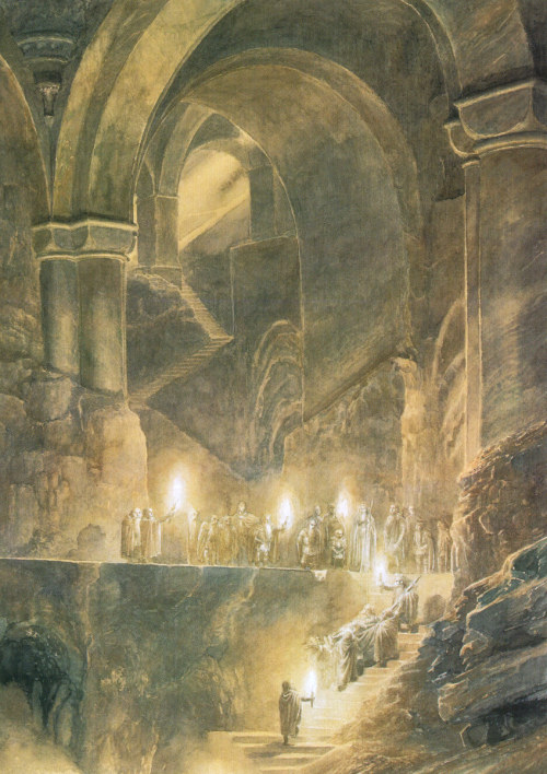 solifugae:  Thorin's Burial by Alan Lee