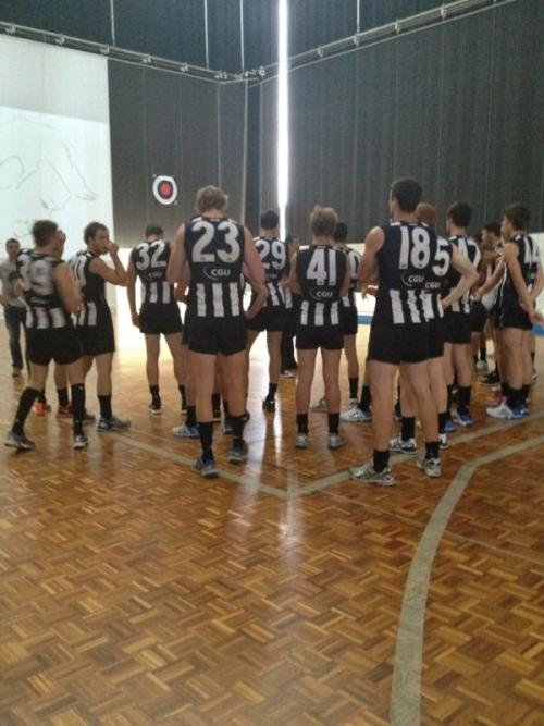 @Liz_CFCmedia:The boys getting ready to film @Collingwood_FC TV ad #ItsUsAgainstThem