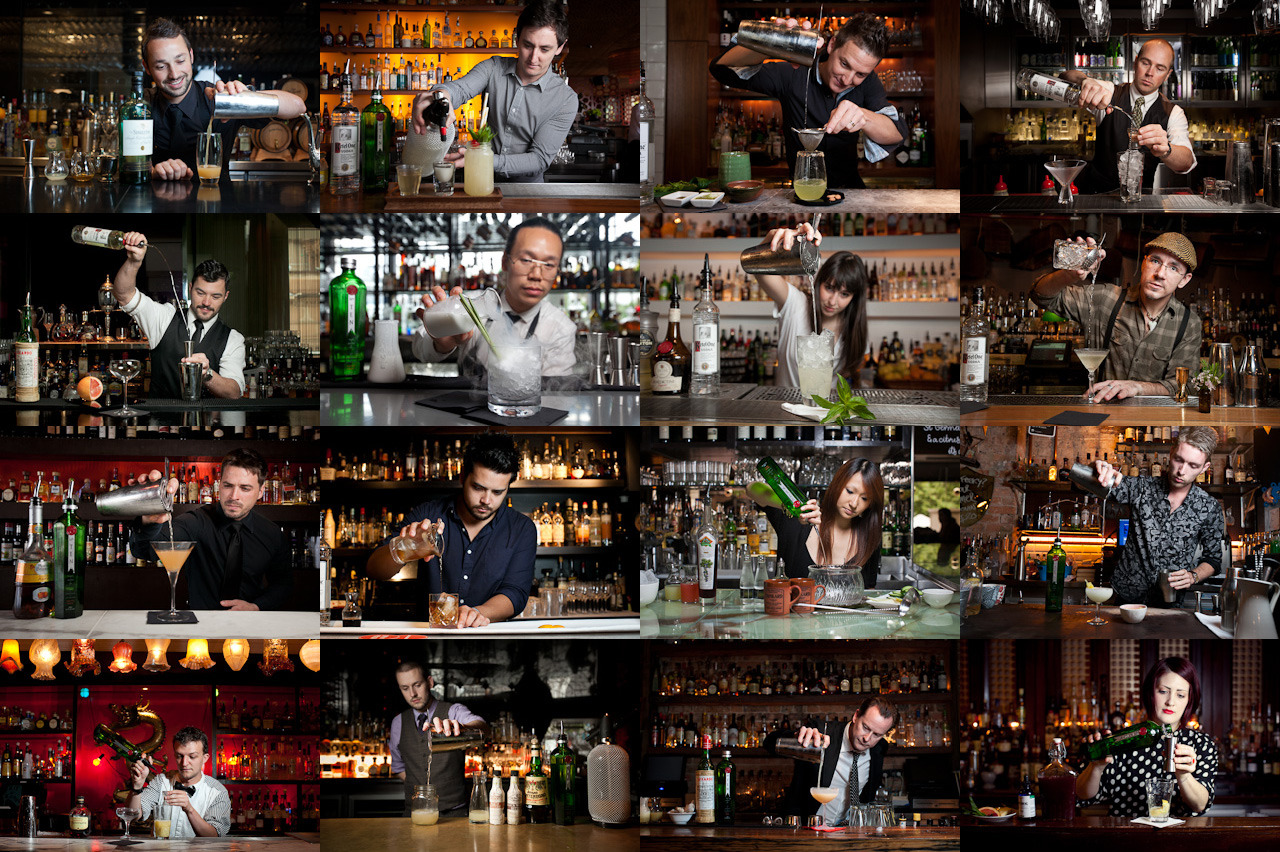 The pour. Sixteen bars and bartenders across Sydney for a feature in Time Out.
