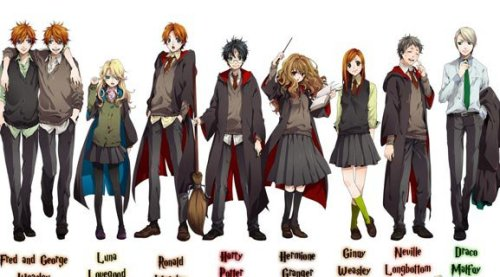 adriievega:  How awesome would Harry Potter be if it were an anime??  Super awesome! :3 <3