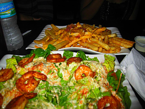 Grilled Shrimp Ceaser & Wiscosin Fries @2VictoriaMarie beautifullbishh.tumblr.com