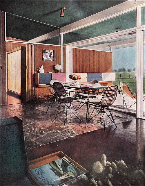 1954 Dining Area by American Vintage Home on Flickr.