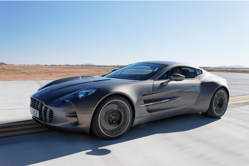 koniser:  New Aston Martin One-77 at Virgin's Galactic Spaceport. Definitely a true driving man's (super) car.  To bad only 77 will be made :(