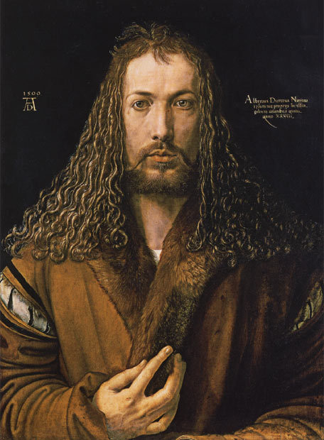 Albrecht Dürer (21 May 1471 – 6 April 1528) Was a German painter, printmaker, engraver, mathematician, and theorist from Nuremberg. His prints established his reputation across Europe when he was still in his twenties, and he has been conventionally regarded as the greatest artist of the Northern Renaissance ever since… and, please look at those beautiful curls!