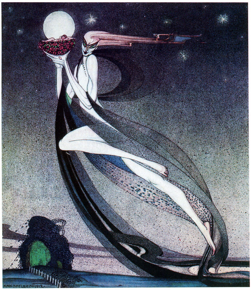 Illustration from In Powder And Crinoline (1913), by Kay Nielsen.