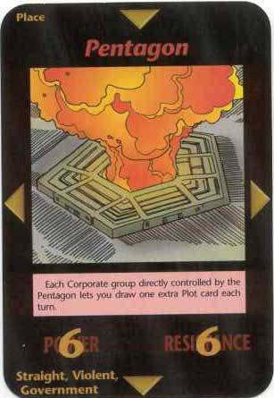 Printed in 1995 from Steve Jackson's Illuminati Card Game ~ Pentagon
