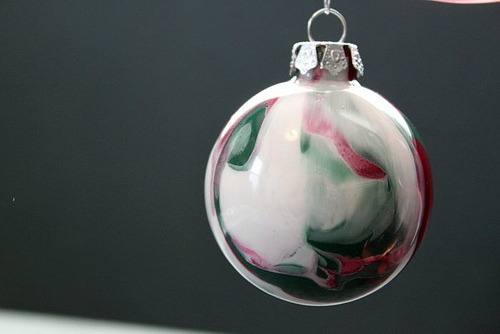 DIY Marbling Ornament