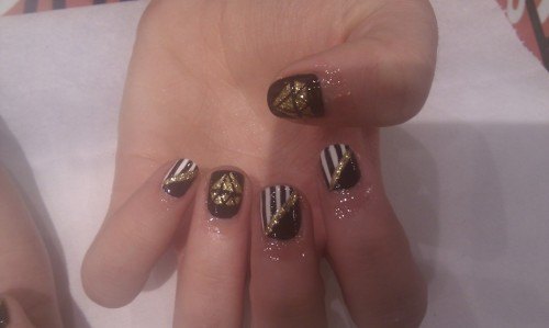 wahnails:  Diamonds & stripes